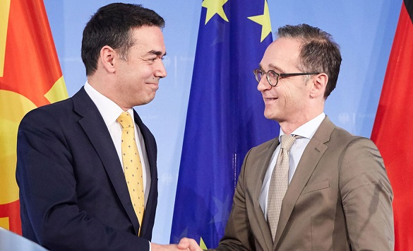 German FM Heiko Maas pays visit to Macedonia, to meet Dimitrov and Pendarovski