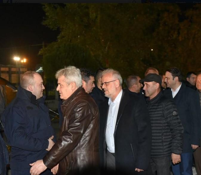 Ahmeti, Xhaferi and Osmani visit the earthquake hit sites in Albania