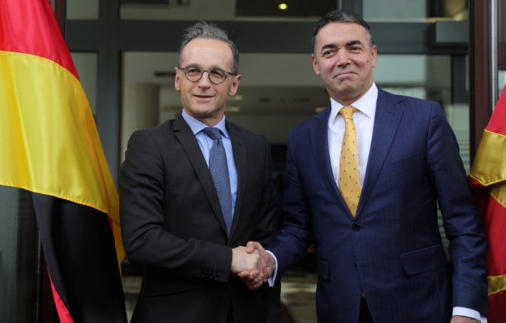 German Foreign Minister Maas says that the French demand to change the enlargement process should not block Macedonia's EU accession talks