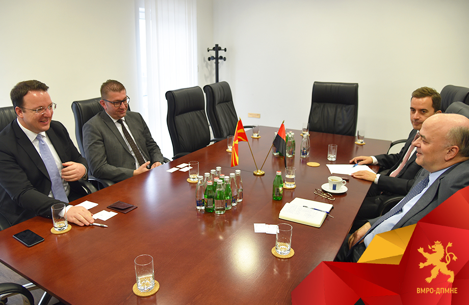 Mickoski discussed the lack of reforms and the high levels of crime and corruption during meetings with the ambassadors of China and Greece
