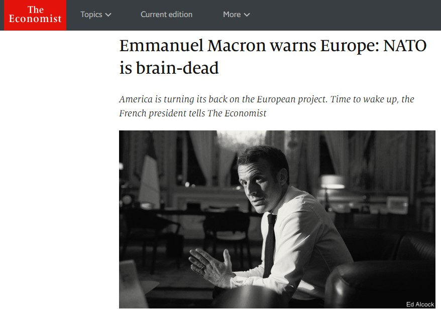 Macron Declared Nato Brain Dead Says Europe Is On A Precipice Republika English