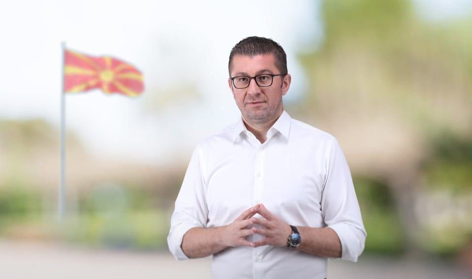 "Mickoski promises ""moderate patriotism"" as opposed to Zaev's ""radical incompetence"""