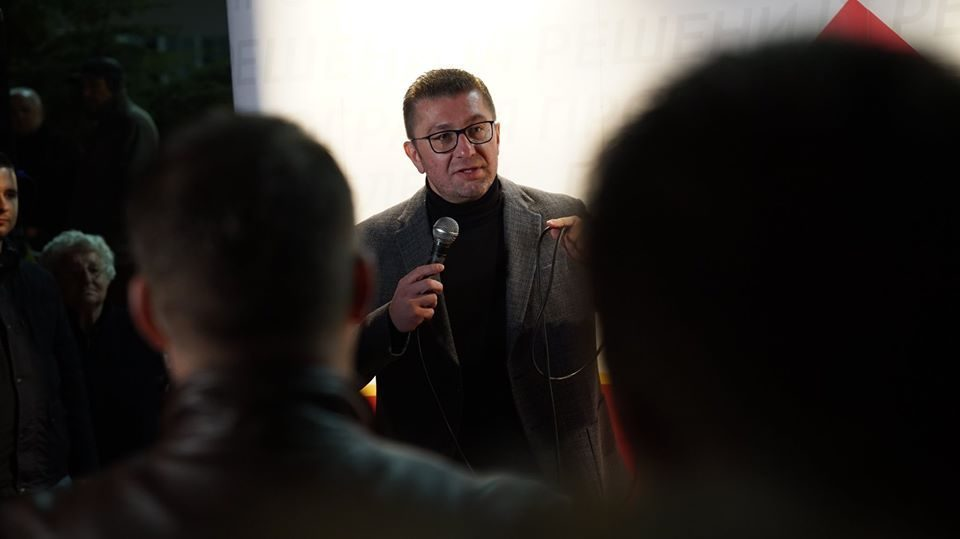 Mickoski in Kavadarci: Let's break the lies and unjustified hopes that the government brings