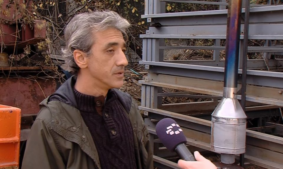 Father and son engineering duo say their filter can help stop air pollution in Macedonia