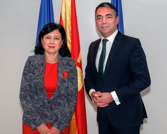 FM Dimitrov meets Commissioner Jourová
