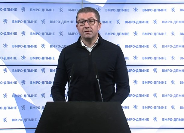 Mickoski: We will propose a law to inspect the origin of the assets of politicians, judges, prosecutors …
