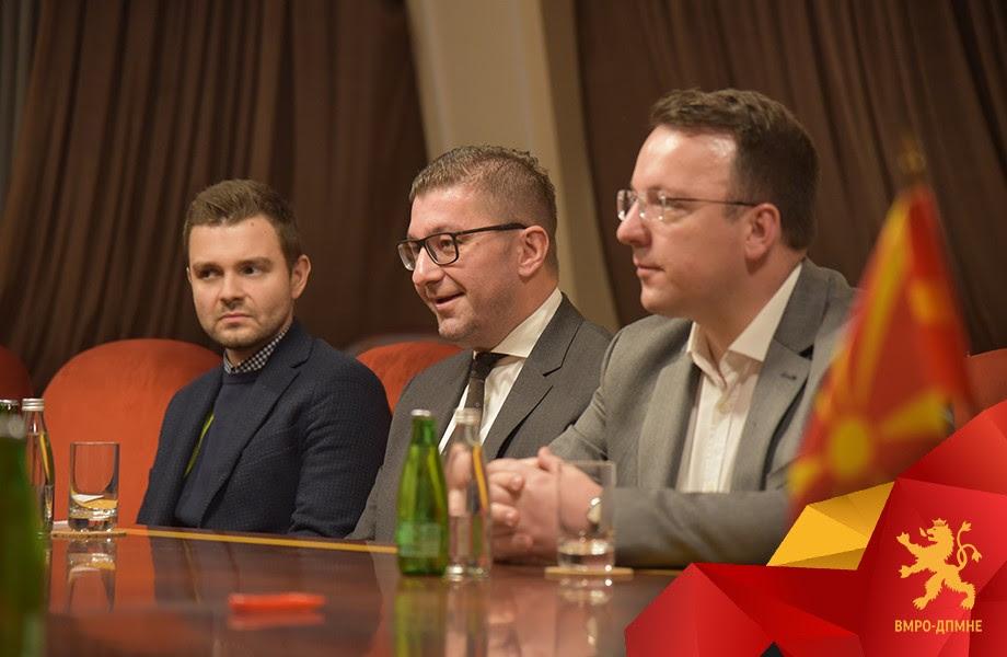 Zaev's corruption gives ammunition to the critics of enlargement, Mickoski tells Weber
