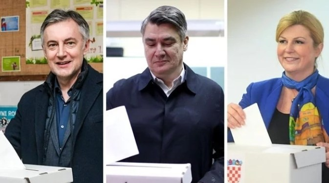 Social-democrat Milanovic leads both right wing candidates in the first round of presidential elections in Croatia