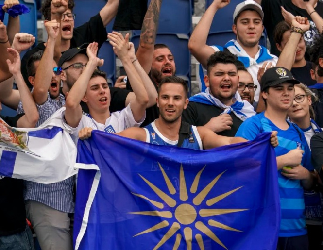 Greek fans chanted against Macedonia at Australian Open: Police and security kicked them out of the tournament