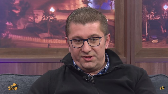 Mickoski promotes his plan for Renewal of Macedonia on late night TV