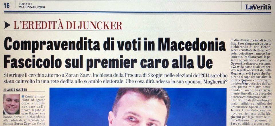 La Verita announces new scandal: Zoran and Vice Zaev involved in electoral frauds in the 2014 elections
