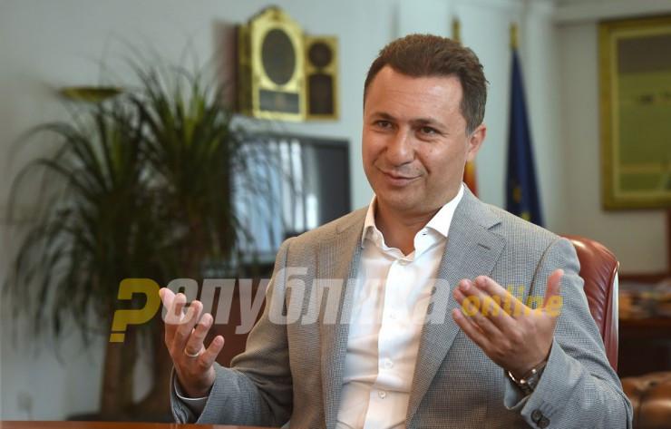 Gruevski: New April 27 indictment politically motivated