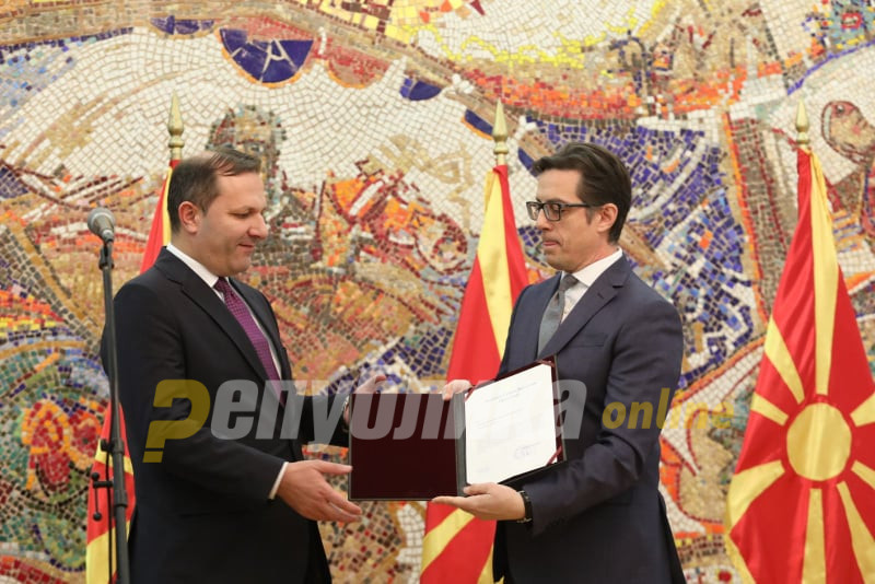 Pendarovski gives Spasovski the mandate to form an interim Government