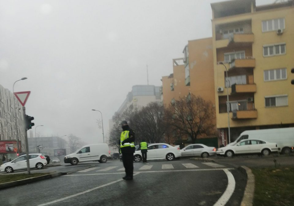 Downtown Skopje streets blocked in protest against parking price hike