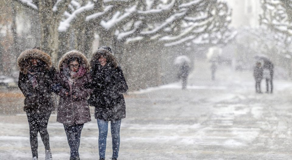 The forecast calls for snow on Sunday and Monday