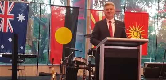 Speech by former President Ivanov in Melbourne interrupted by a fire alarm