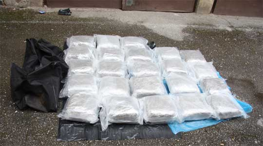 Macedonian citizens caught transporting 12 kilos of heroin to Montenegro