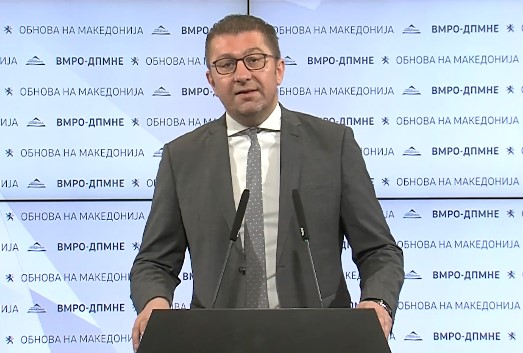 Mickoski calls the public on a march to protest Zaev's interference in the judiciary