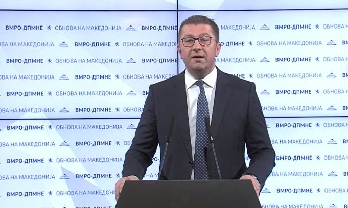 Mickoski warns Zaev: Law or no law, you will be held accountable