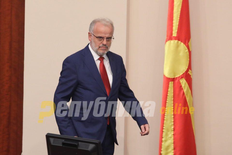 Xhaferi won't allow a vote to dissolve the Parliament just yet