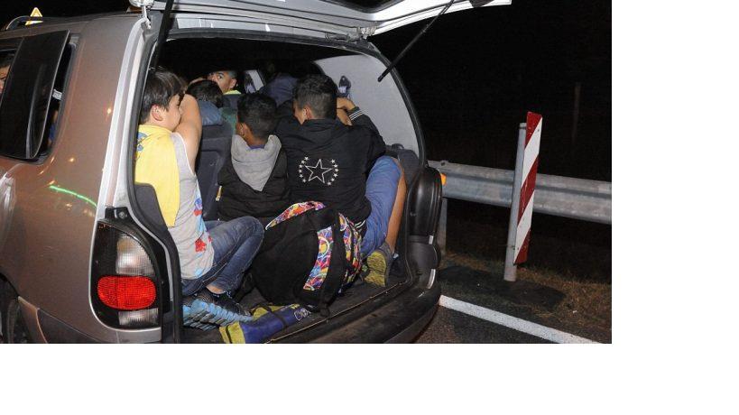 Five migrants found in a van near Strumica