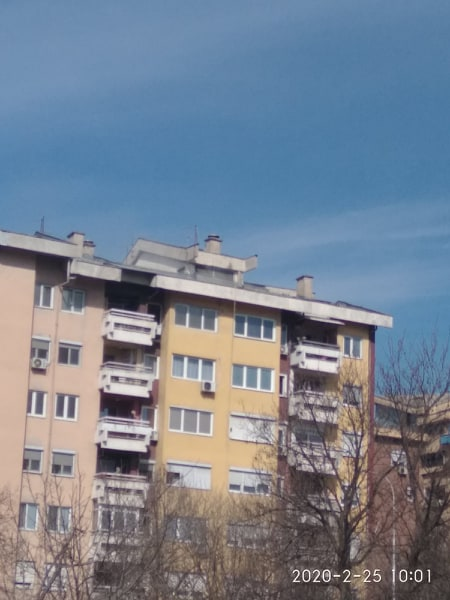 Two apartments are on fire in Skopje