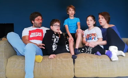 The Durlovski family encourages people to stay at home with a song