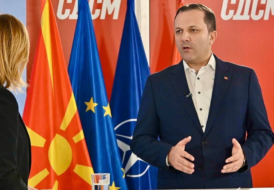 No mention of the nation that is joining NATO from Oliver Spasovski