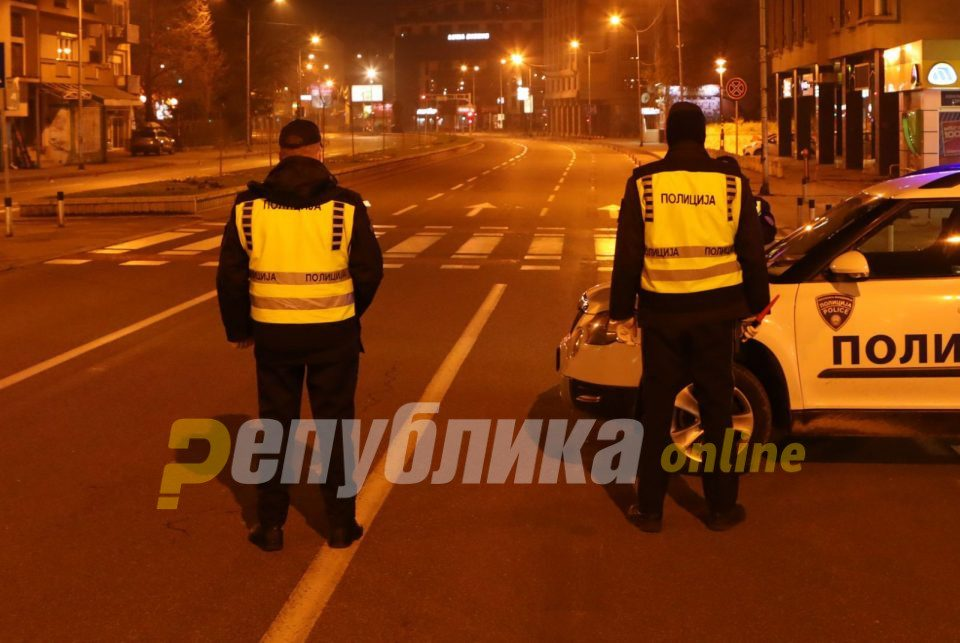 Police detains over 100 citizens for violating the curfew