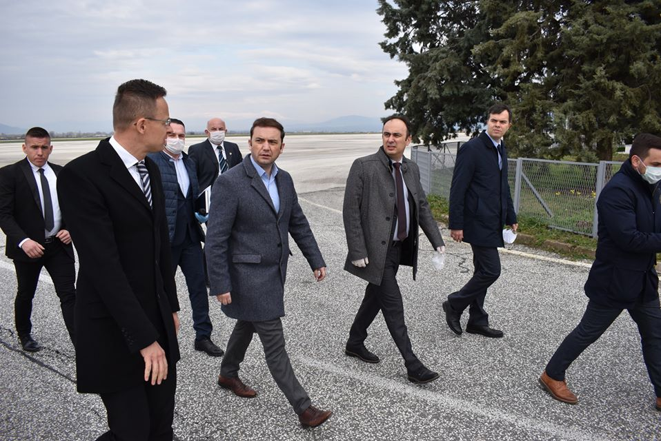 Interior Minister Culev welcomed Hungarian Minister Szijjarto and the shipment of medical aid