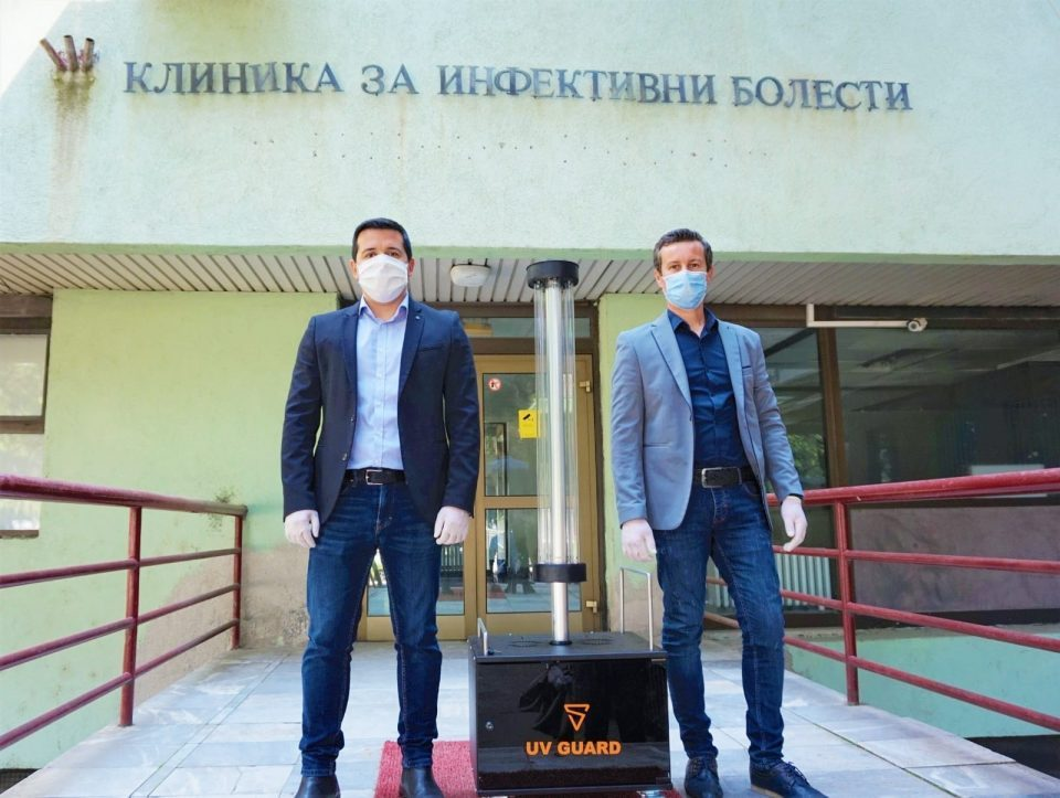 Clinic for Infectious Diseases gets UV Guard device to fight COVID-19, donation from Macedonian inventors