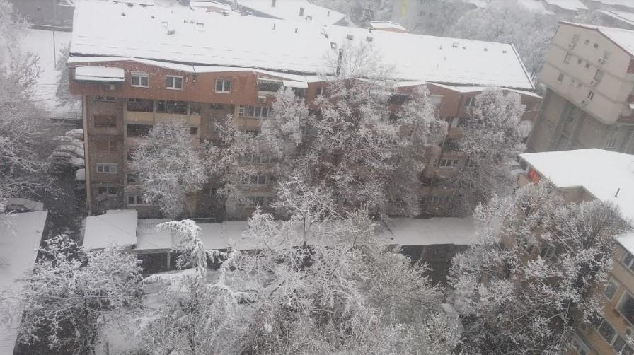 Snow storm over Macedonia