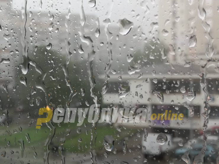 Rainy weather accompanied by strong winds