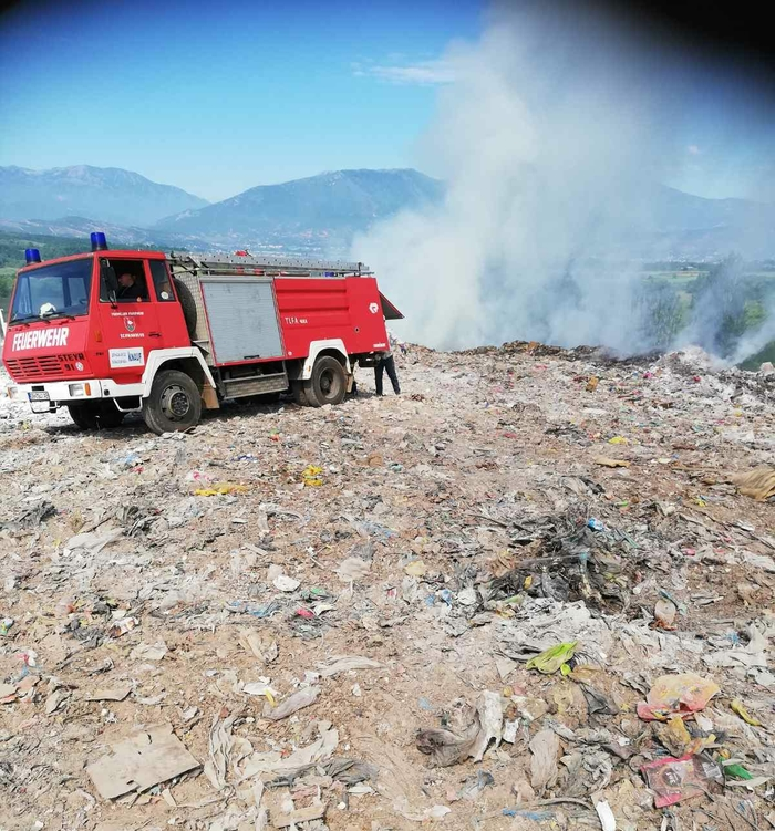 Debar city dump fire was started deliberately