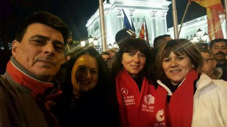 The new president of the Strumica court regularly attends SDSM rallies