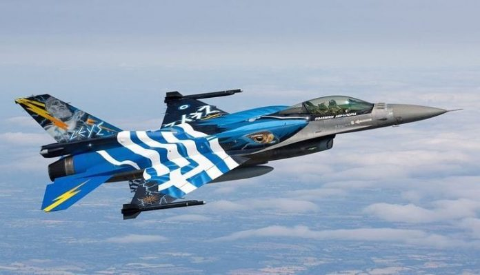 Greek and American warplanes will fly over Macedonia tomorrow