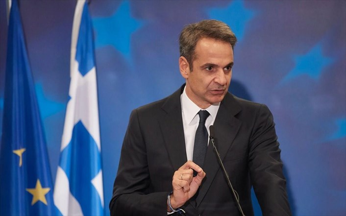 Mitsotakis tells Macedonia that respect for the Prespa treaty is condition of EU membership