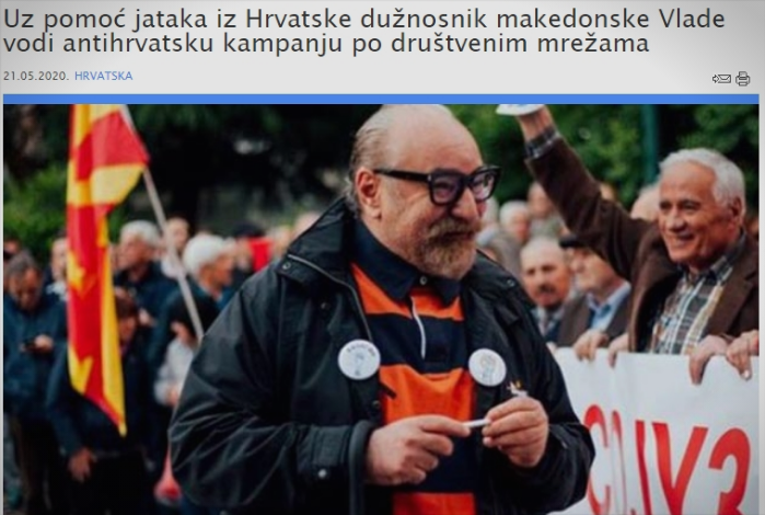 """Macedonian Government official launches hateful rants against Croatia, calling it a """"fascist, criminal country"""""""