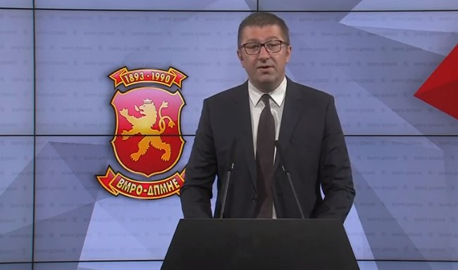 Mickoski: SDSM fears losing the elections, I only have fear for citizens' health