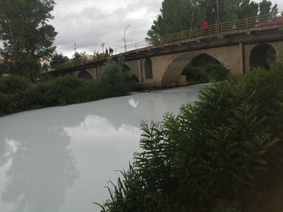 Chemical spill that painted the Bregalnica river white was caused by the Technical Textiles factory near Stip