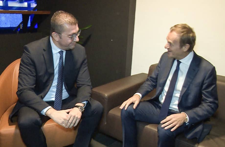 Mickoski and Tusk hold phone talks, agree that the outbreak should be overcome first, and then hold elections