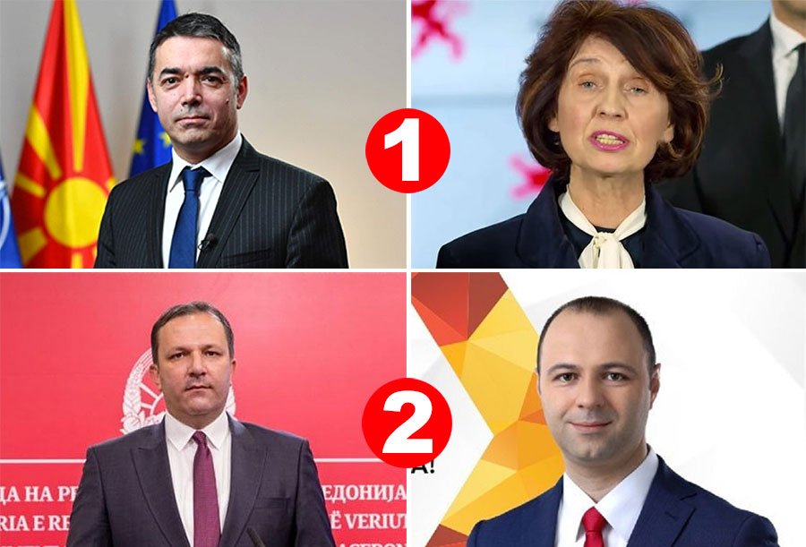 Siljanovska-Davkova and Misajlovski hold convincing lead over Dimitrov and Spasovski in first and second electoral districts