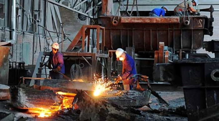 Industrial production in May drops 27 percent