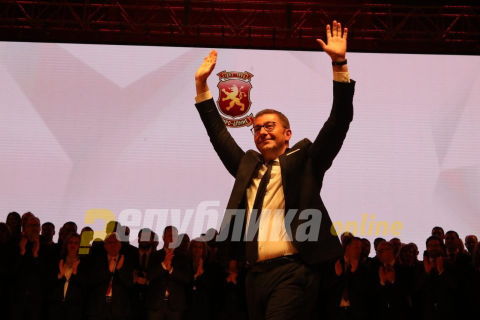 Mickoski: I am convinced that VMRO-DPMNE will win the parliamentary elections