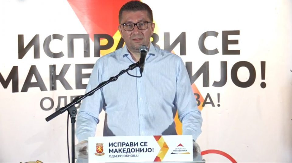 Mickoski promises that VMRO will bring the unemployment rate below 10 percent