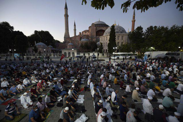 Hagia Sophia opens for Muslim prayers after 86 years as a museum