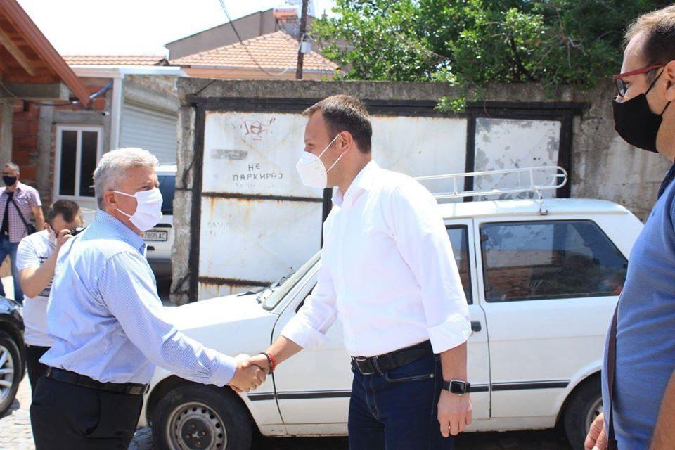 Former President Ivanov campaigns with Igor Janusev in Veles