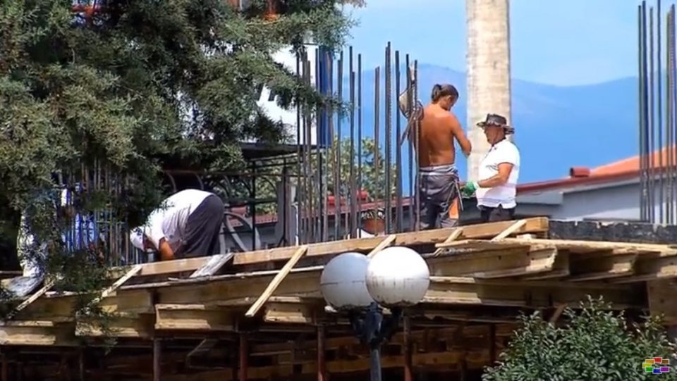 Illegal build in the center of Skopje tests the power of the city