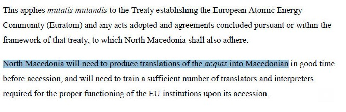 Government leaks the EU document that refers to the Macedonian language