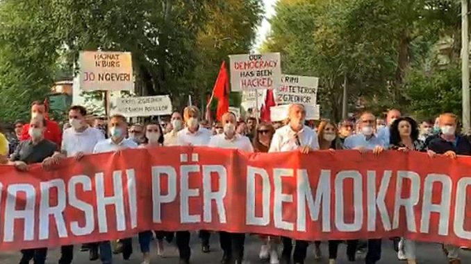 DUI didn't win the elections, the right to vote must be respected, the AA/Alternativa coalition said at the protest in Skopje